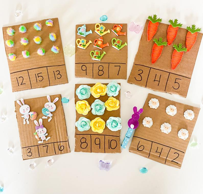 easter tactile boards