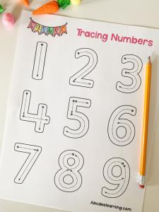 spring tracing numbers