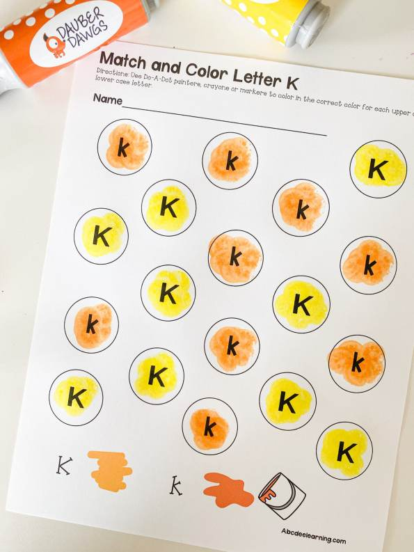 dot painting letters