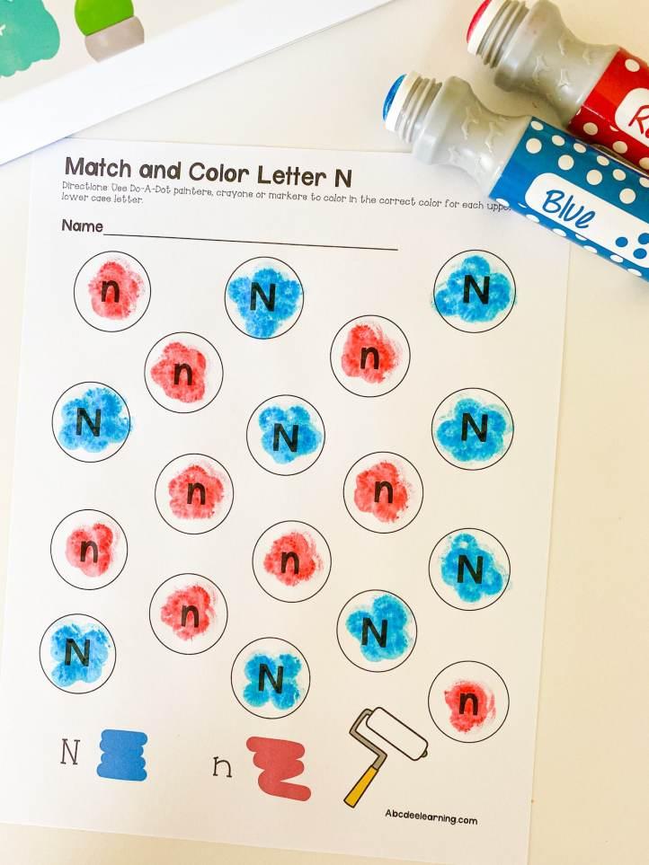 letter N dot the letter