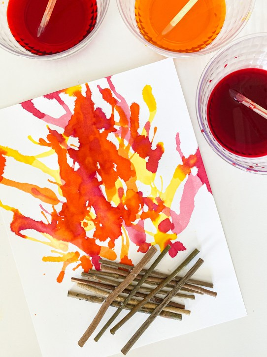 fire blow painting