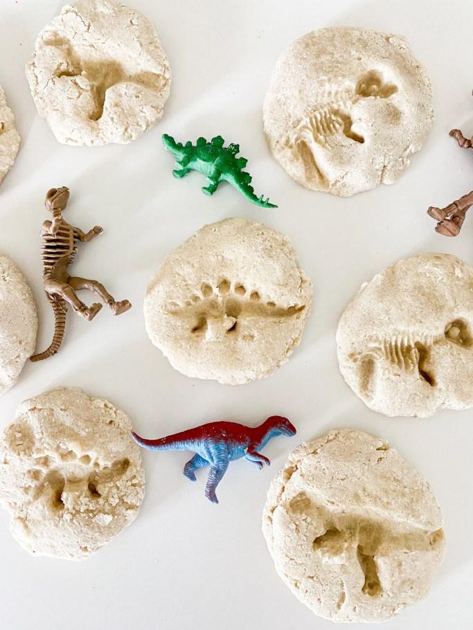 salt dough dino fossils