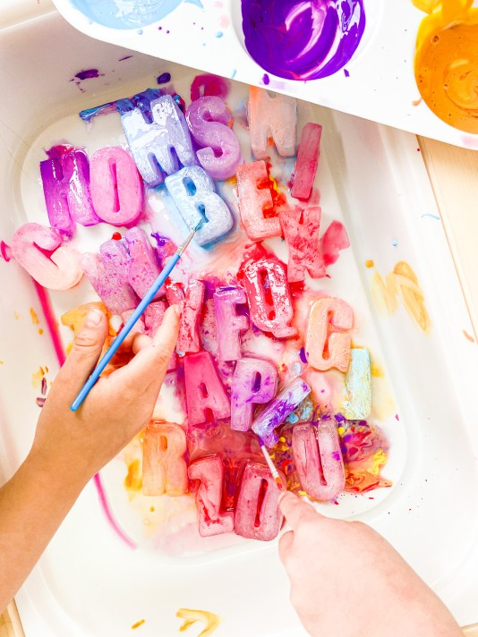 alphabet painting