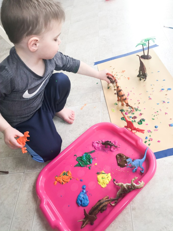 dinosaur track art