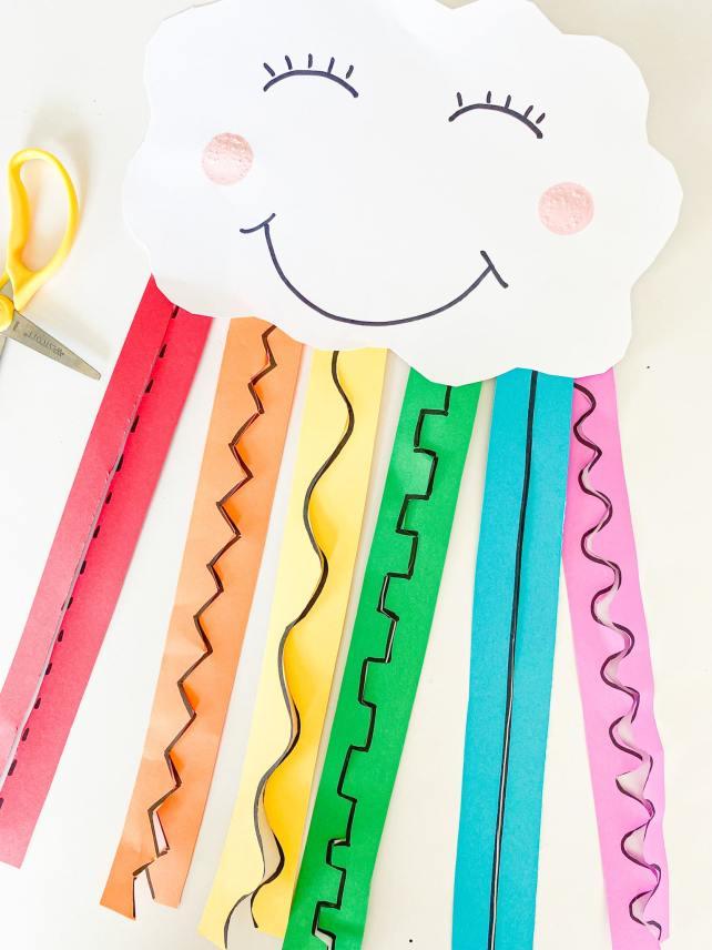 rainbow cutting craft