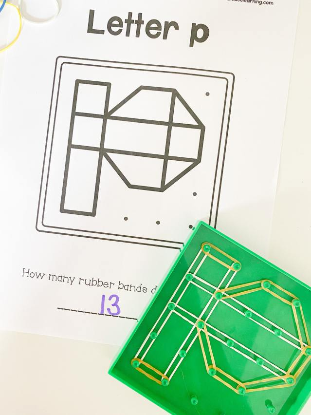 letter p geoboard letters
