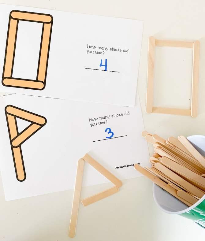 letter o popsicle sticks