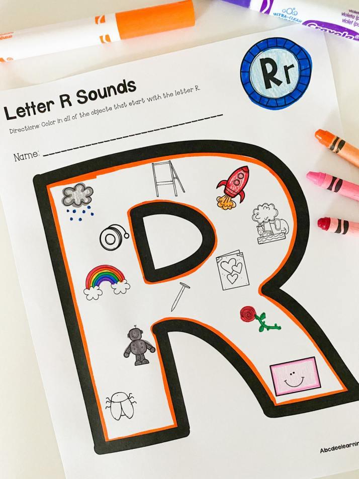 letter r beginning sound printable