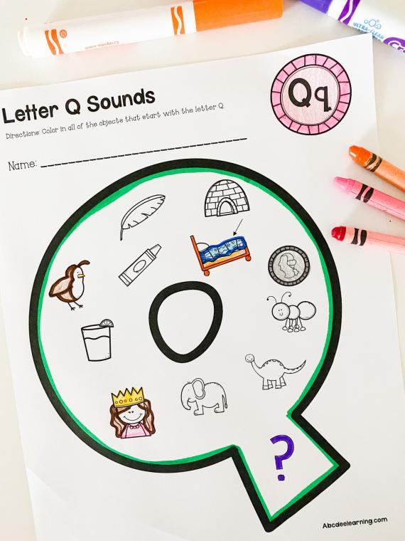 letter q beginning sounds