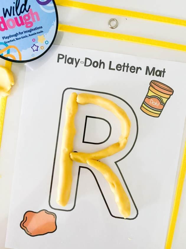 alphabet play doh mat