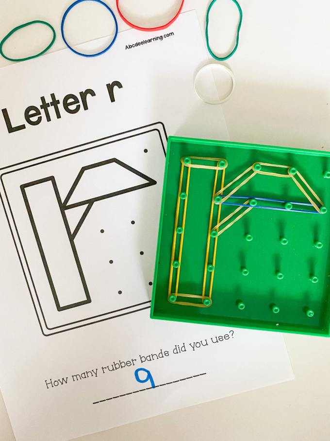 letter r geoboards