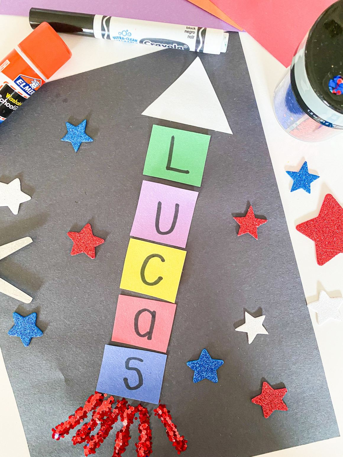 rocket name craft for kids