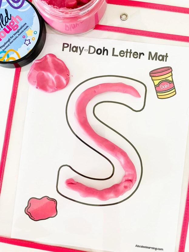 letter s play dough mat