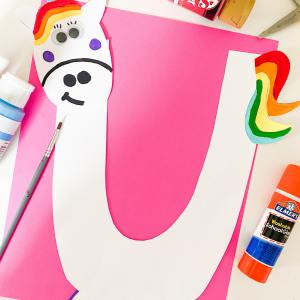 letter u unicorn collage