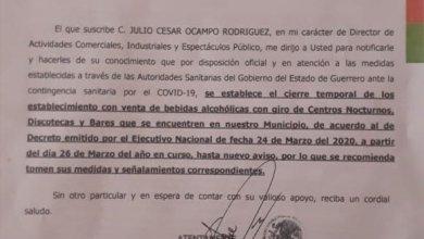 Photo of Bares y centros nocturnos cerraron este jueves de manera indefinida