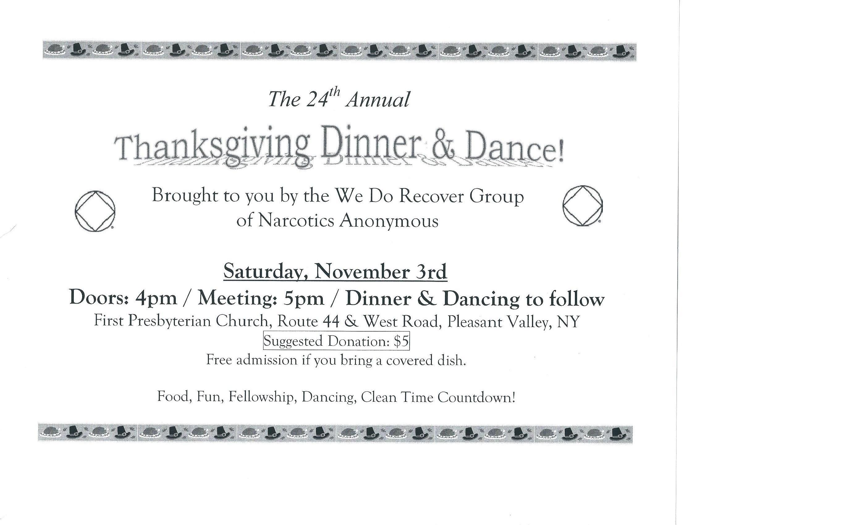 The 24th Annual Thanksgiving Dinner & Dance @ First Presbyterian Church | Pleasant Valley | New York | United States