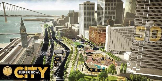 Super Bowl City Aerial