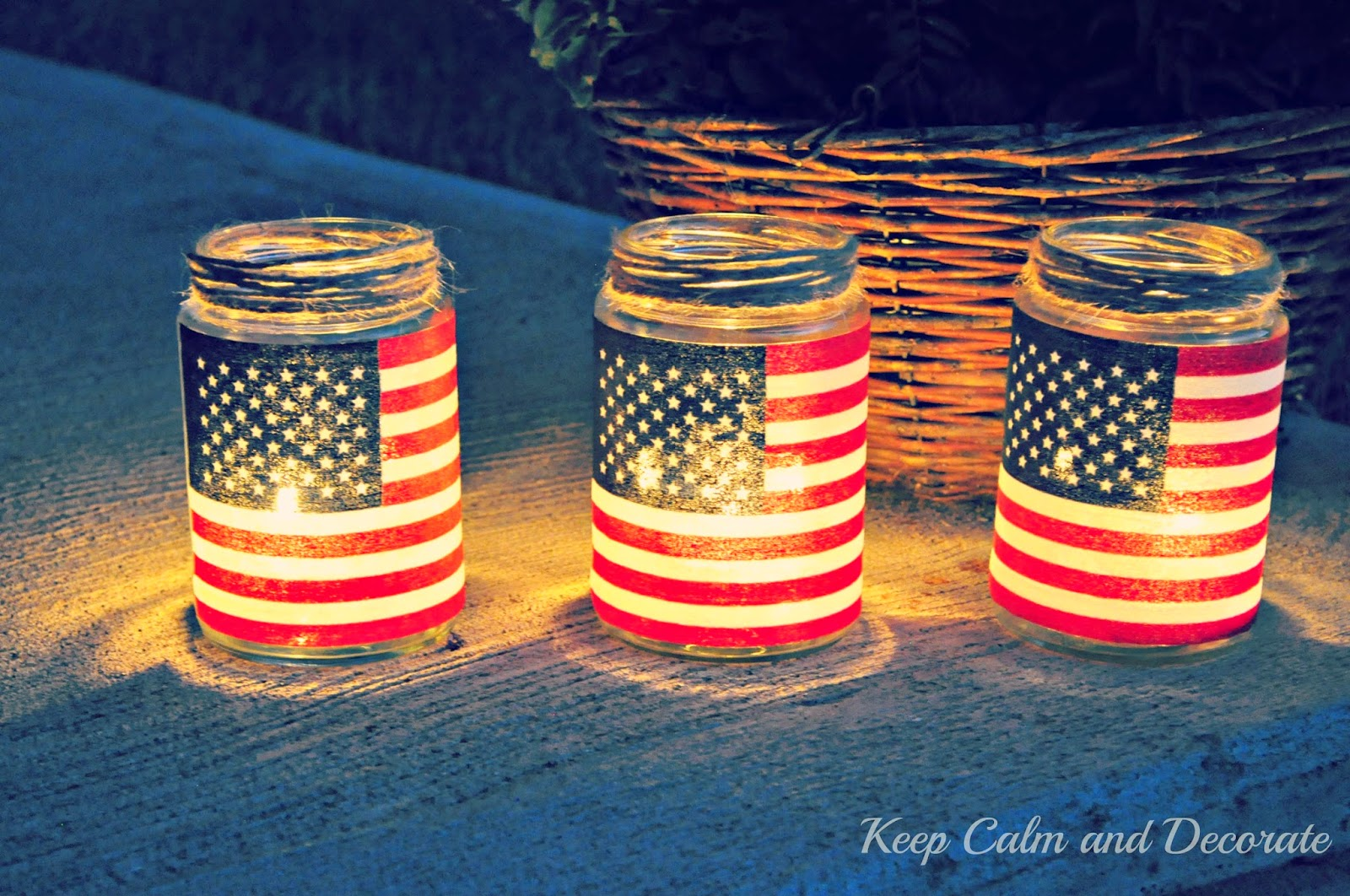 4th of July themed Luminaries!