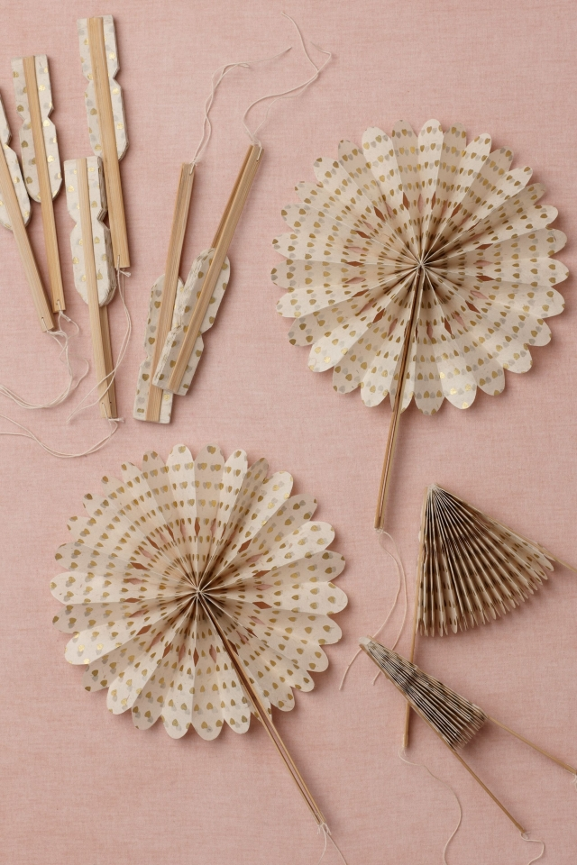 Fans and Parasols for outdoor event
