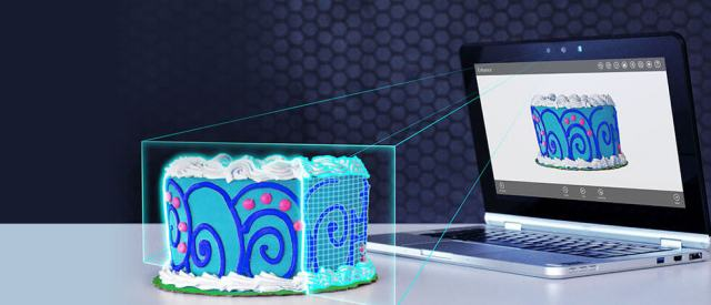 Intel RealSense physical cake to digital cake