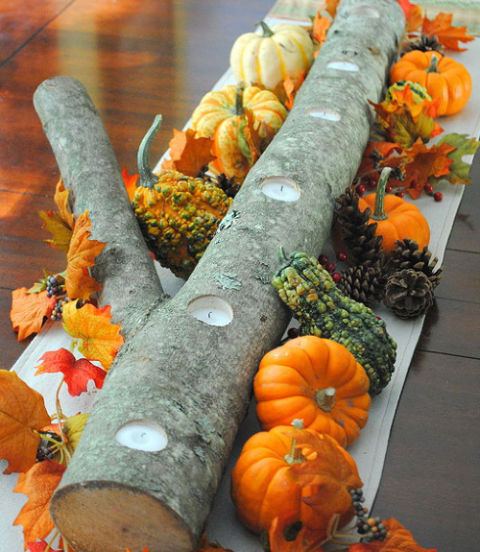 log centerpiece