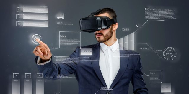 A man using virtual reality - tech trends