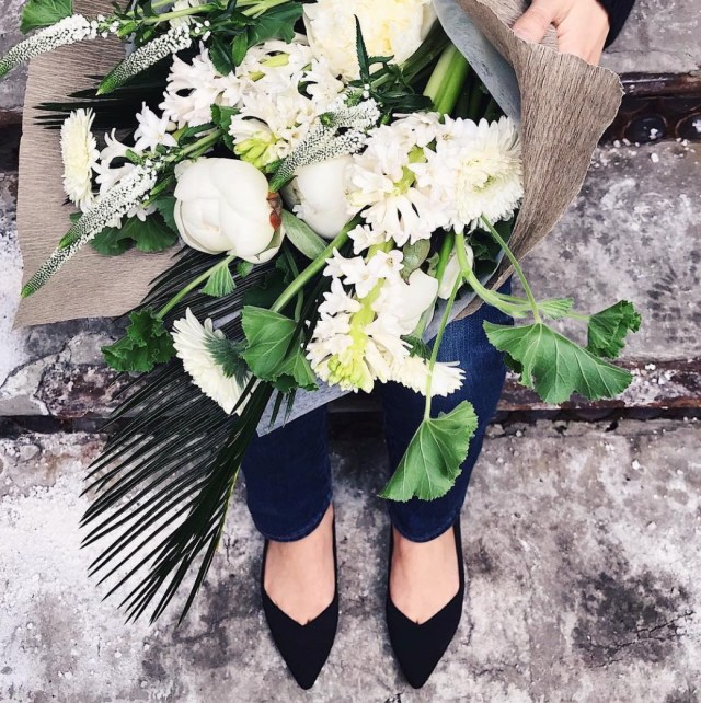 Rothy's shoes with flowers - Sustainable fashion