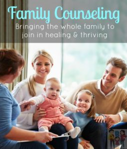 Family Counseling will bring the whole family together to process any difficult feelings, learn important skills and heal towards thriving!