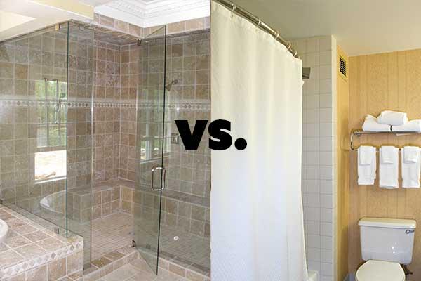 frameless glass shower doors vs shower