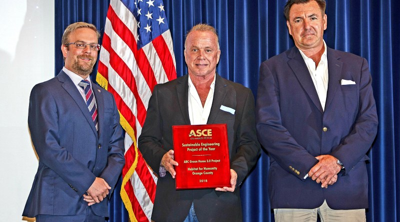 Builder.Media Principals Accepting ASCE 2018 Sustainable Project of the Year Award