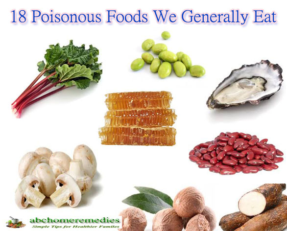 18 Poisonous Foods We Generally Eat