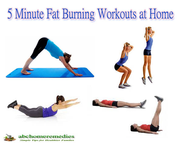 5 Minute Fat Burning Workouts at Home
