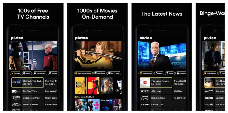 A Pluto TV está disponpivel em dispostivos Android e iOS, além de na versão web e para smart TVs