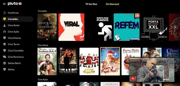 Pluto TV é de propriedade da ViacomCBS, dona da Paramount, e tem acesso gratuito de forma legal