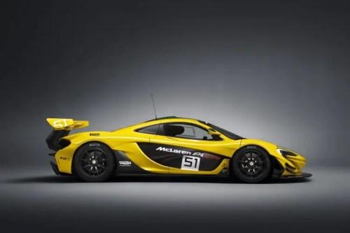 vue profil McLaren P1 GTR