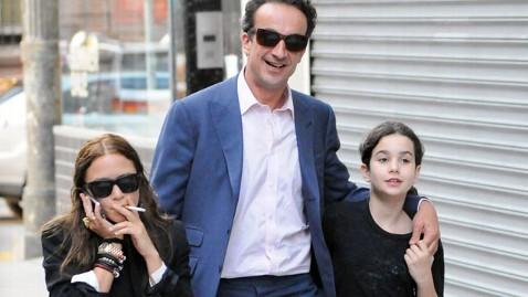 The couple was joined by Sarkozy's daughter as they headed out to dinner in the West Village