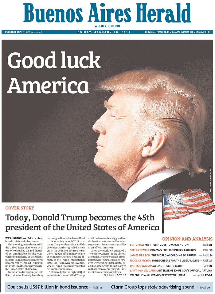 Image result for international headlines about trump