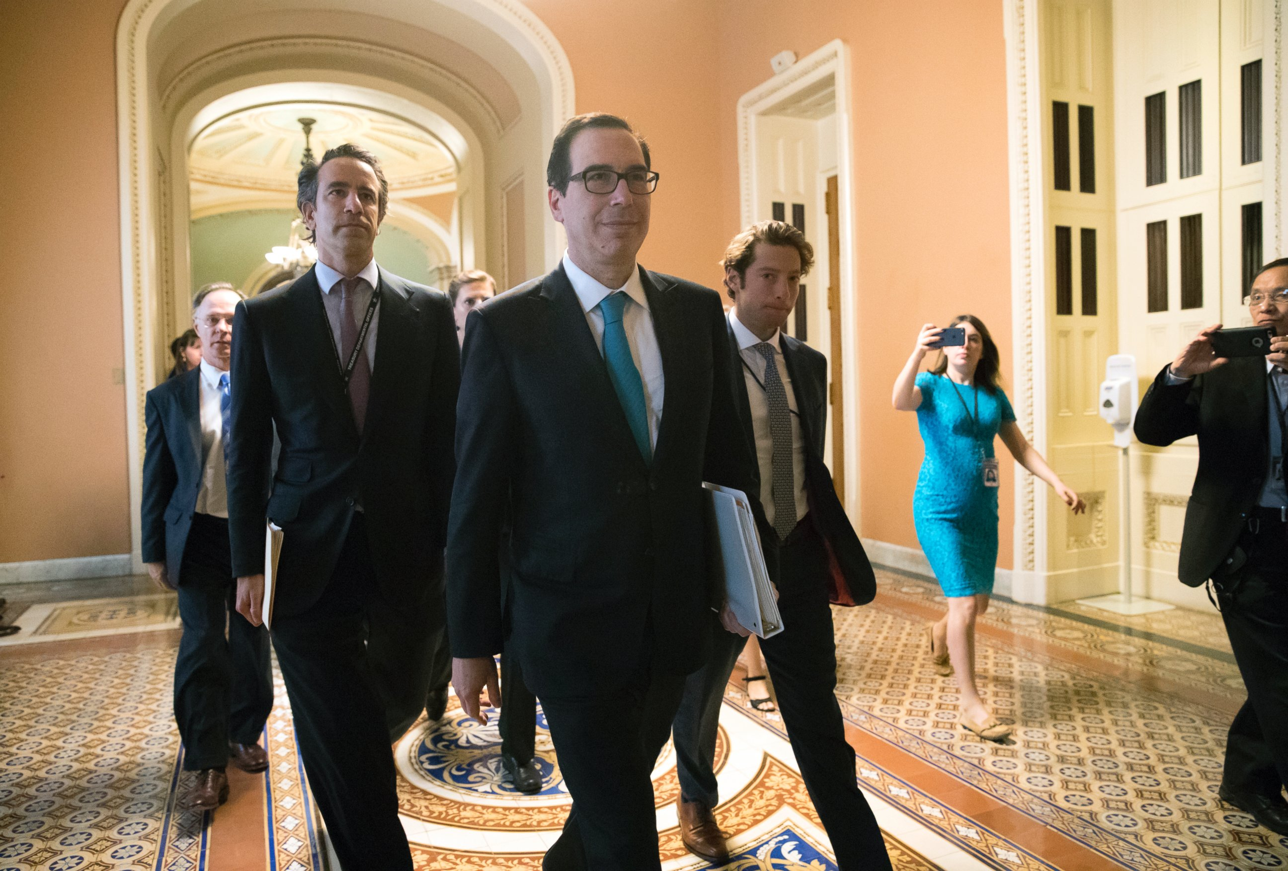 Image result for photos of trump cohn and mnuchin