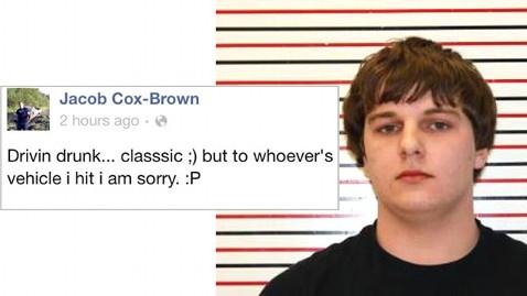ht jacob cox brown nt 130104 wblog Oregon Teen Arrested After Posting Drivin Drunk Facebook Status
