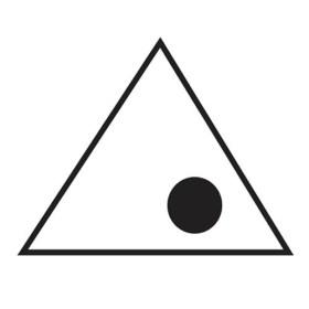 háromszög-pöttyel