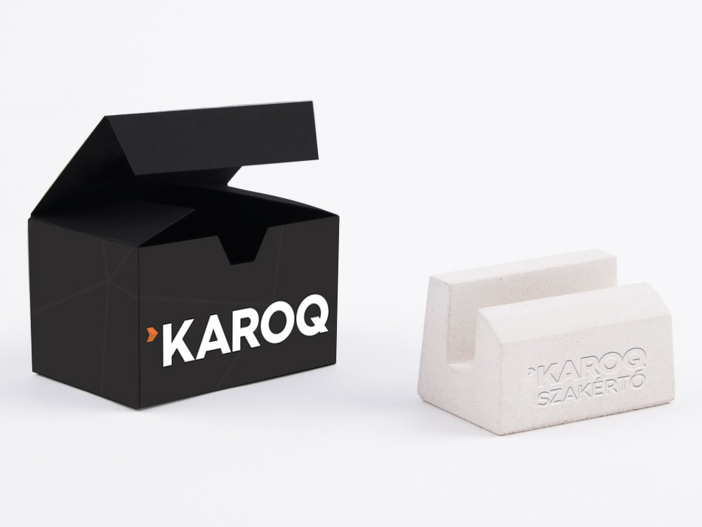 Branded business card holder for clients