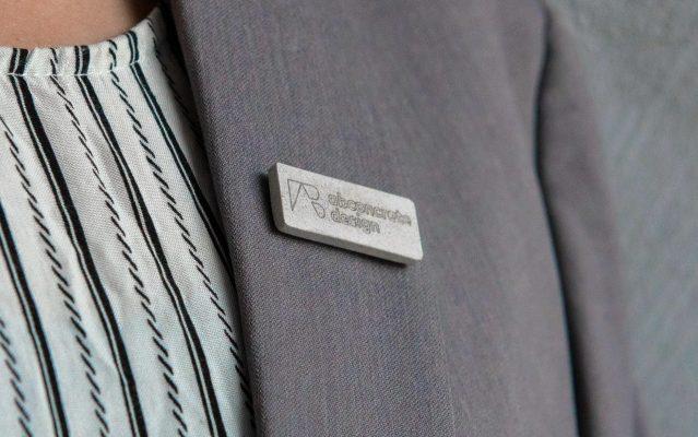 Concrete custom design pins and badges