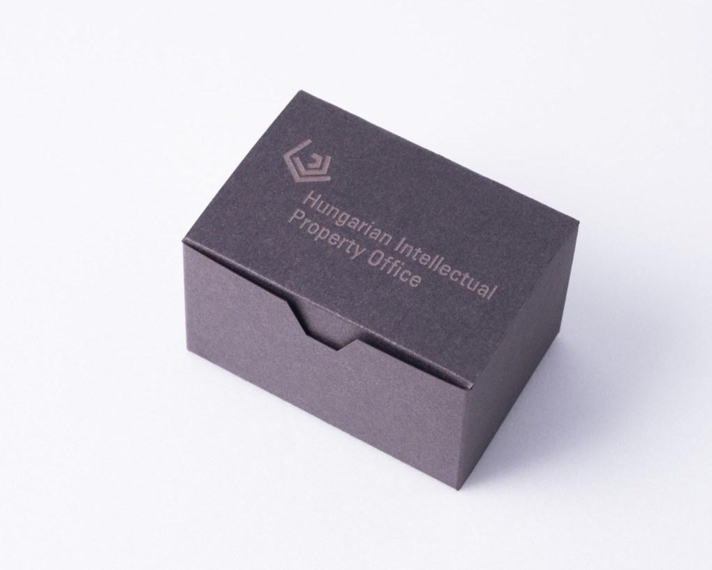 ARCHICON pen holder in custom logo box as business gift