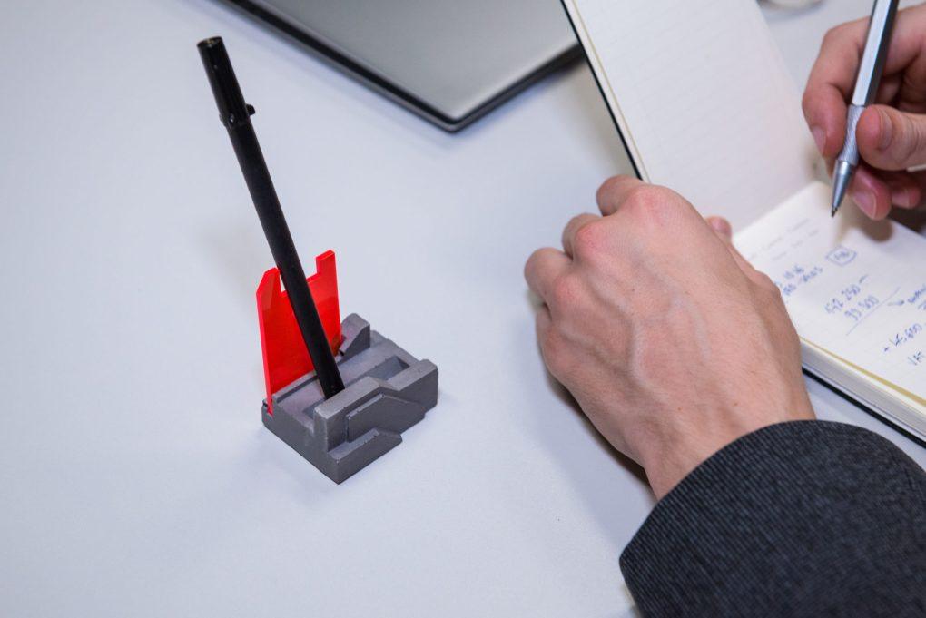 Futuristic pen holder