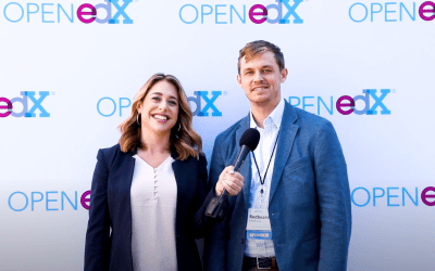 TV presenter Sarah Pilla Interviews Our Founder at the Open edX Conference 2019 in San Diego, USA!