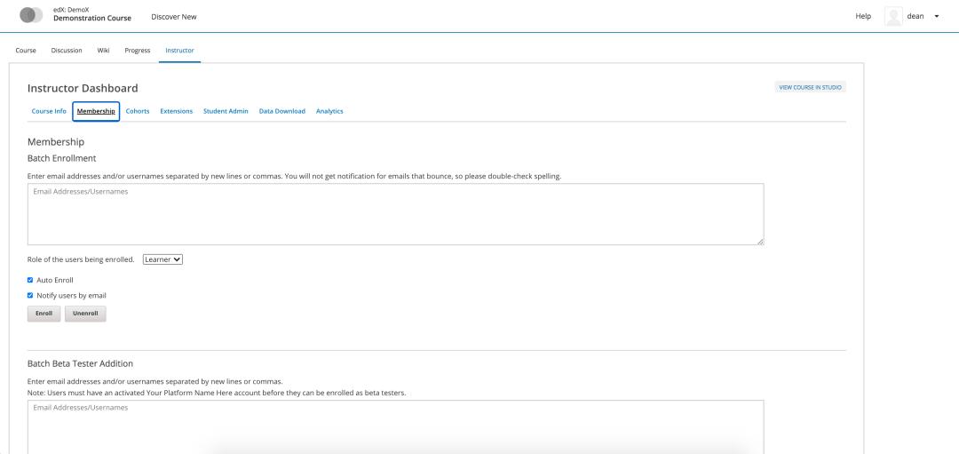 open edx instructor dashboard tutorial
