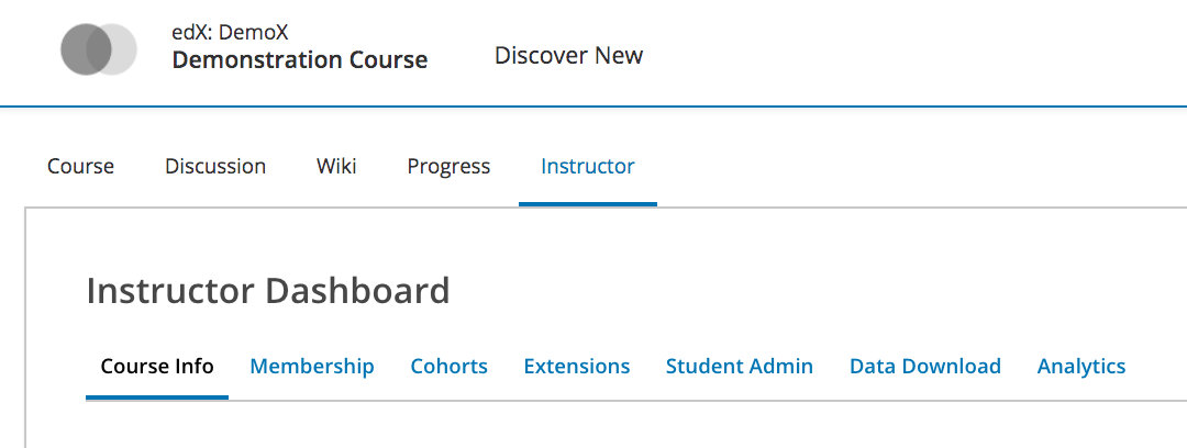 Open edX® Tutorial: Overview of the Open edX® Instructor Dashboard