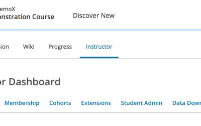 Open edX® Tutorial: How to Access the Instructor Dashboard