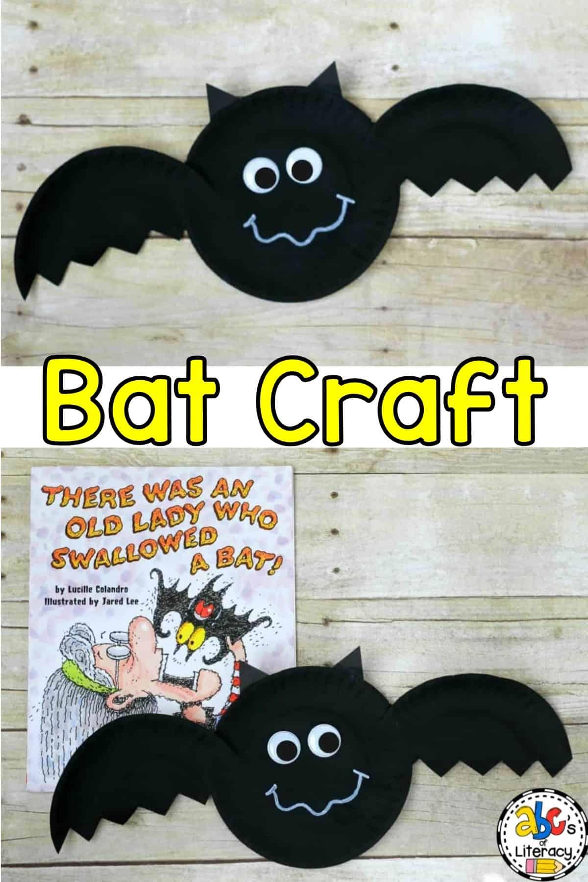 Paper Plate Bat Craft