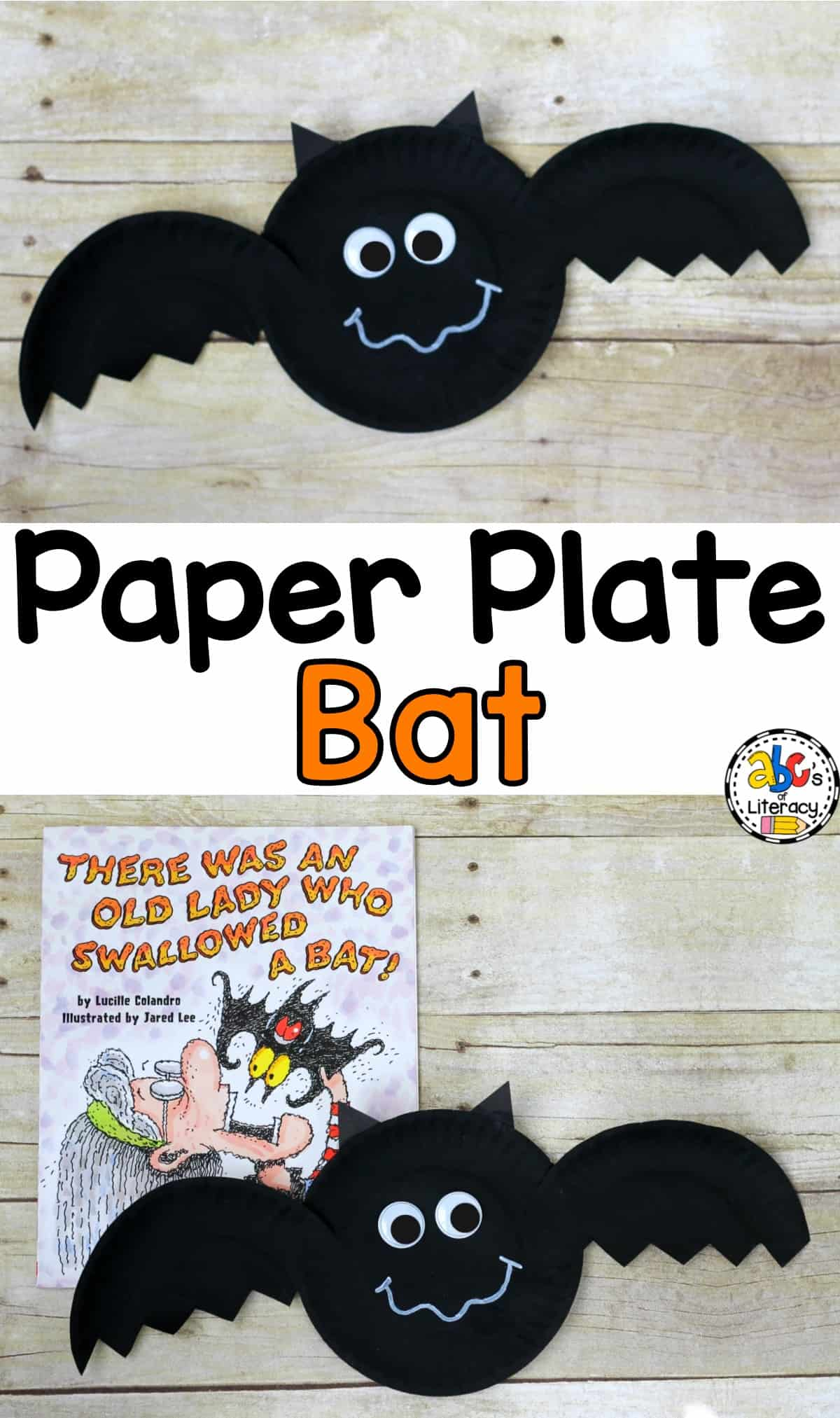 How To Make A Book Inspired Paper Plate Bat Craft